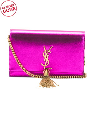 Made In Italy Leather Kate Chain Mini Bag