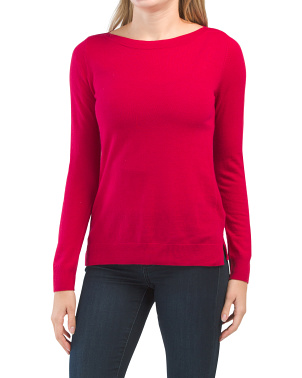 Boat Neck Merino Wool Sweater