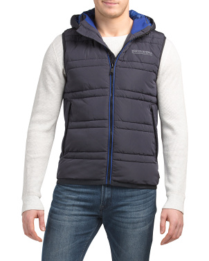Classic Hooded Quilted Bodywarmer Vest