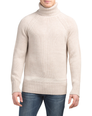Soft Wool Blend Turtleneck Pullover Sweater
