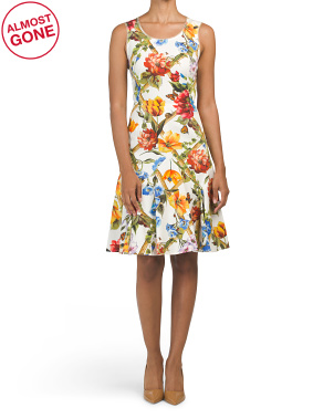 Made In Italy Sleeveless Flower Dress
