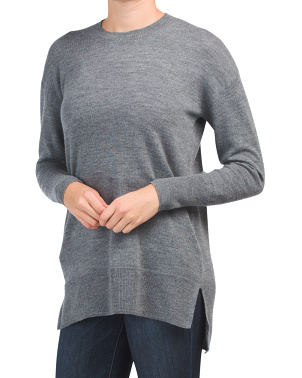 Extrafine Merino Wool Crew Neck Tunic