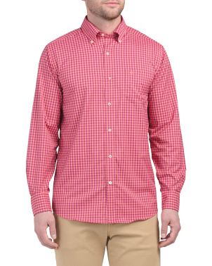 Long Sleeve Cookout Gingham Sports Shirt