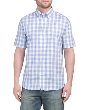 Short Sleeve Buffalo Check Sport Shirt