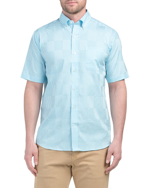 Short Sleeve Gingham Sport Shirt