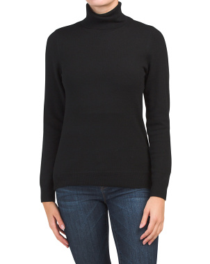 Extrafine Merino Wool Basic Turtleneck Sweater