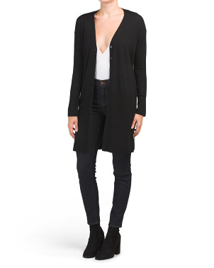 Extrafine Merino Wool Duster Cardigan
