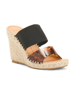 Elastic Strap Espadrille Wedge Sandals