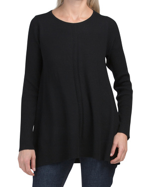 Extrafine Merino Wool Tunic Pullover Sweater