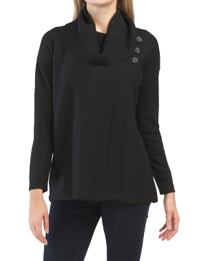 Extrafine Merino Wool Cowl Neck Tunic