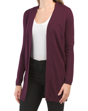 Straight Front Extrafine Merino Wool Cardigan
