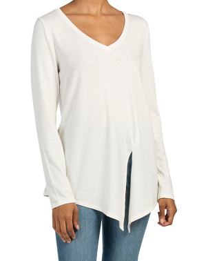 V Neck Tunic With Side Tie