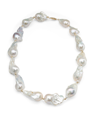 Made In Usa 14k Gold Baroque Pearl Necklace