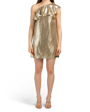 Silk Metallic Woven Dress