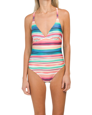 Solar Cross Back One-piece Swimsuit