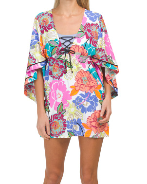 Radiant Blooms Cover-up Tunic