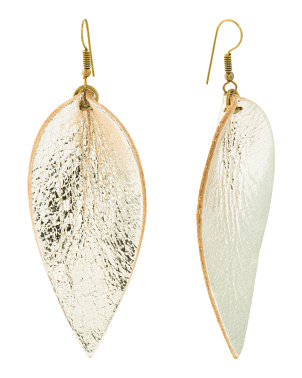Handmade In India Leather Zia Earrings