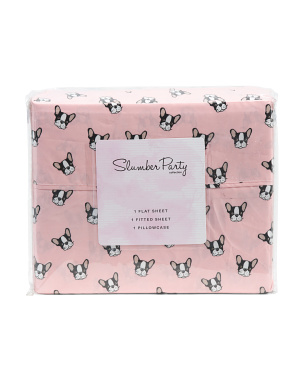 Frenchie Face Sheet Set