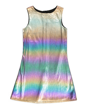 Big Girls Metallic Dress