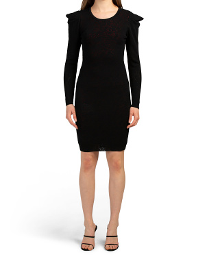 Pointelle Lace Long Sleeve Dress