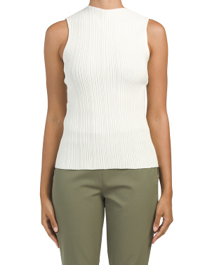 Vertical Textured Shell Top