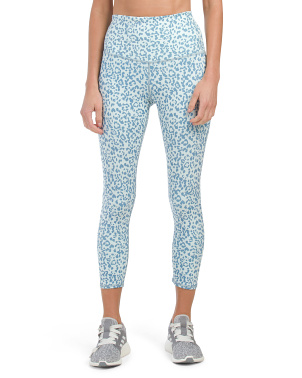 High Waist Animal Printed Ankle Leggings