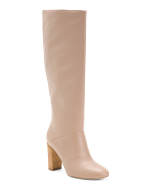 Tall Shaft Leather Comfort Boots