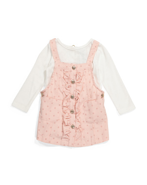 Toddler Girls Ruffle Jumper Top Set
