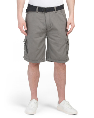 Belted Ripstop Cargo Shorts