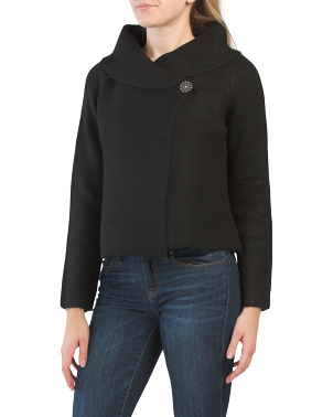Double Knit Shawl Collar Swacket