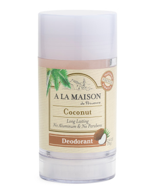2.4oz Coconut Deodorant Stick