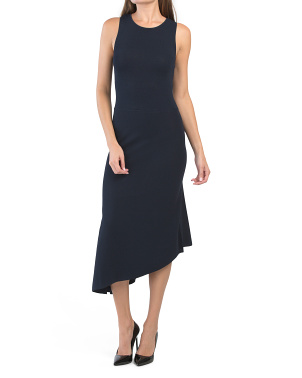 Sleeveless Asymmetrical Midi Dress