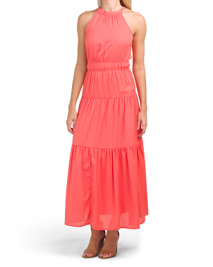Juniors Tiered Maxi Dress