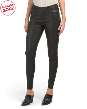 Made In Italy Farrah High Rise Skinny Leather Pants
