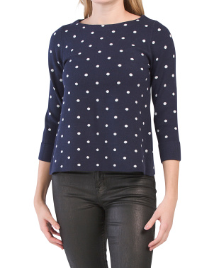 Double Knit Polka Dot Sweater