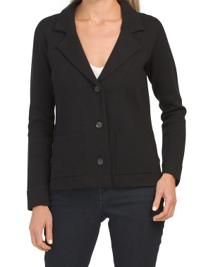Double Knit 3 Button Blazer