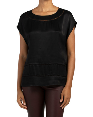 Dolman Sleeve Satin Top