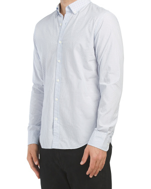 Washed Button Down Slim Fit Shirt
