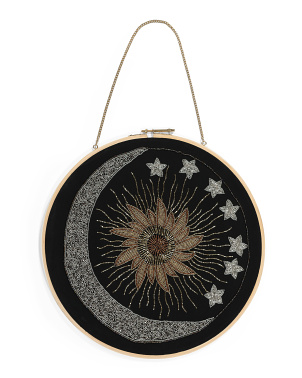 16in Moon Stars With Sun Wall Hoop