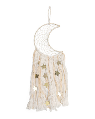 Moon With Metal Stars Hanging Dream Catcher