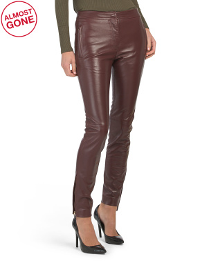 Made In Italy Leather Pants
