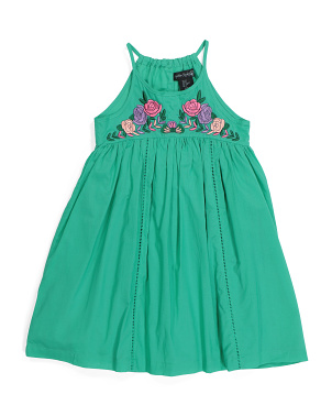 Toddler Girls Floral Bodice Dress