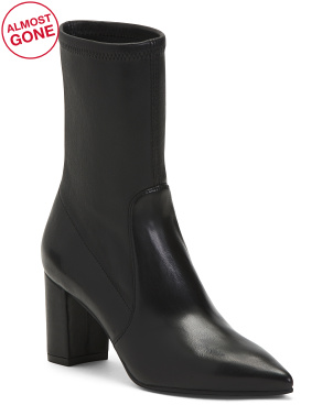 Made In Spain Leather Mid Calf Booties