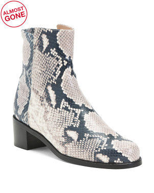 Made In Spain Mixed Snake Stretch Back Booties