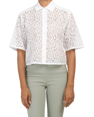 Optical Lace Top