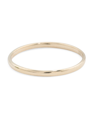 Made In Usa 14k Polished Gold Band Ring