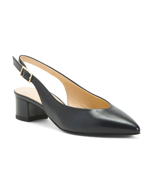 Made In Italy Leather Slingback Flats