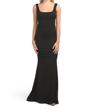 Made In Usa Lucy Square Neck Gown