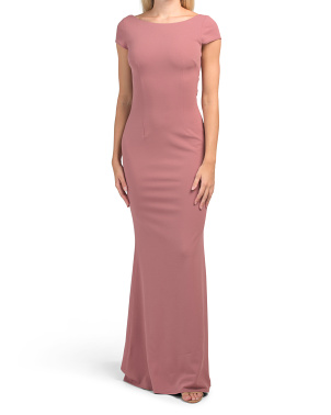 Made In Usa Madison Cap Sleeve Gown