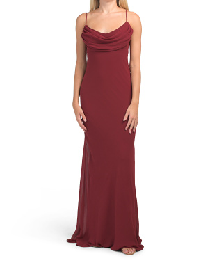 Made In Usa Eden Chiffon Gown